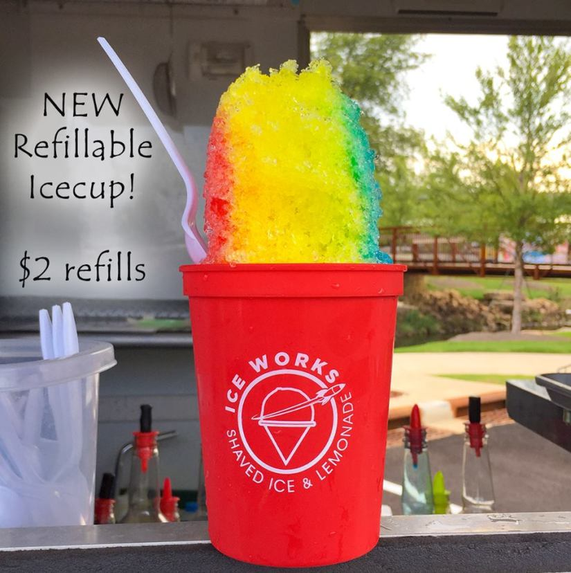 2 refillable cups